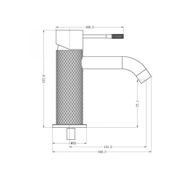 Opal Basin Mixer Drawing