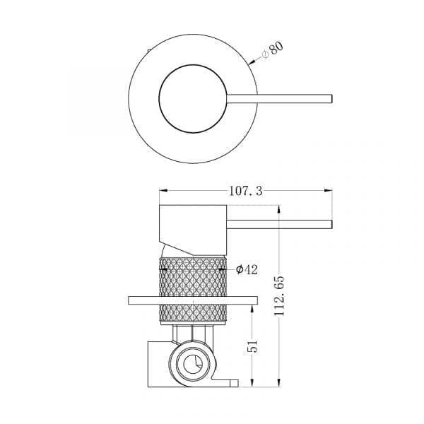 Opal Shower Mixer Drawing