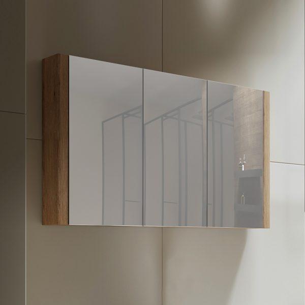 Tiana 1200 Mirror Cabinet in Vintage Oak 1