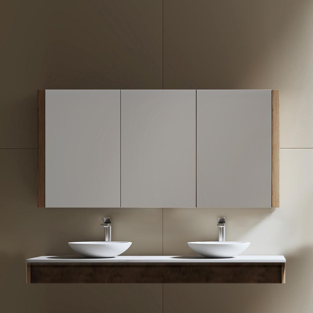 Tiana 1500 Vintage Oak mirror cabinet
