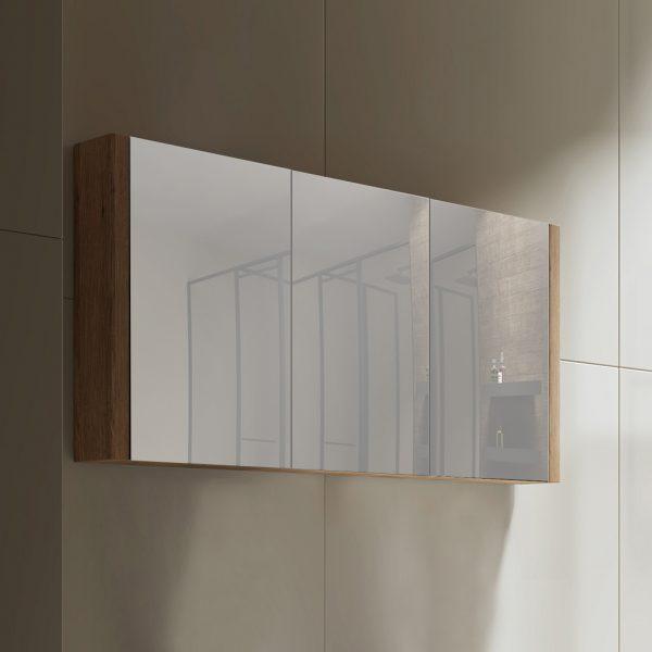 Tiana 1500 Mirror Cabinet in Vintage Oak 1