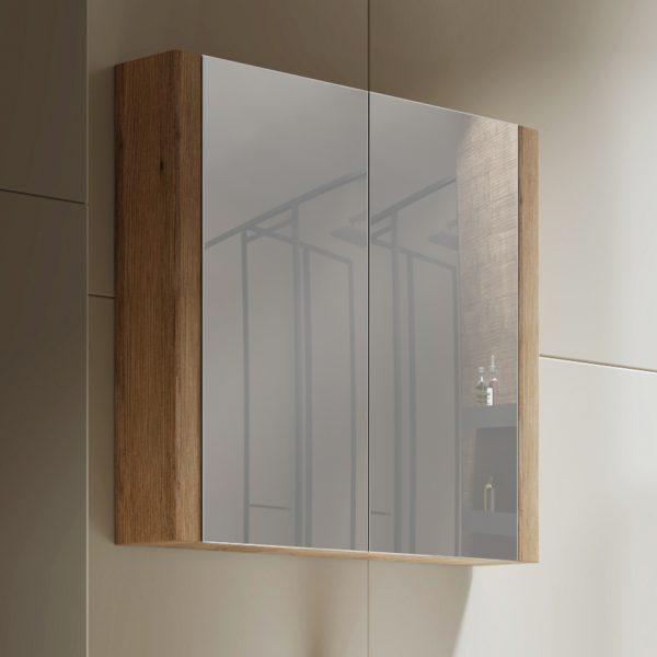 Tiana 750 Mirror Cabinet in Vintage Oak 2