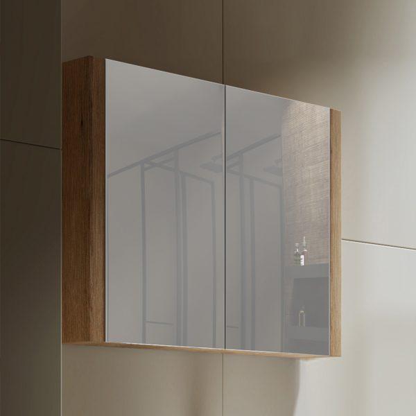 Tiana 900 Mirror Cabinet in Vintage Oak 1